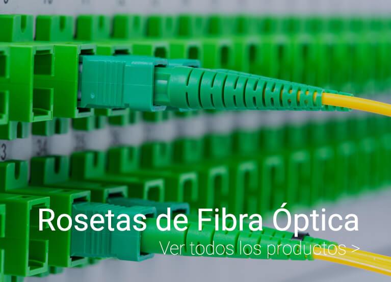 rosetas de fibra optica